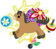 The Mini Animal  -Horse- Royalty Free Stock Image