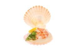 Mini apéritif de coquille de fruits de mer Photo stock