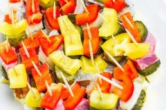 Mini aperitivo dos palitos dos sanduíches Fotografia de Stock Royalty Free