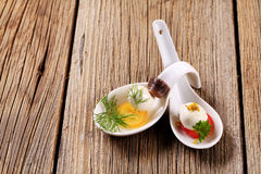 Mini aperitivos Imagens de Stock