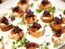 Mini Appetizers Stock Image