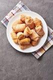 Mini Apple Pie one bite Crescents, kifli stock images