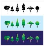Mini arbres Image libre de droits