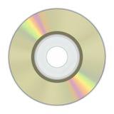 mini arc-en-ciel de couleur d'or cd de disque réaliste Photo stock