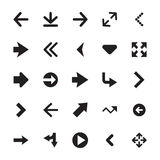 Mini Arrows Vector Icons 2. Set of 25 mini arrows solid  icons Royalty Free Stock Photography