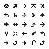 Mini Arrows Vector Icons 3. Set of 25 mini arrows solid  icons Royalty Free Stock Images