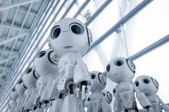 Mini assemblea dei robot illustrazione di stock