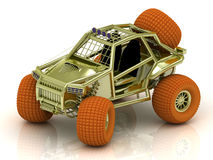 Mini ATV buggy golden color Royalty Free Stock Photo