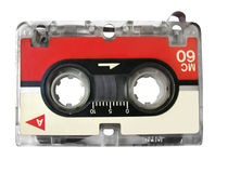 Mini Audio Cassette For Fax / Type Recorder. Isolated, Clipping Path Included stock images