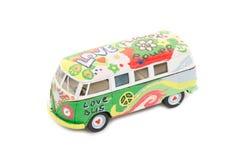 Mini autobus d'amour de jouet d'autobus hippie Images libres de droits