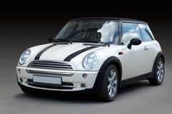 Mini automobile bianca Fotografia Stock Libera da Diritti
