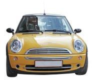 Mini automobile gialla Fotografia Stock Libera da Diritti