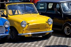 Mini automobili classiche Immagini Stock Libere da Diritti