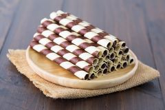 Mini bâton de chocolat de gaufrette Image stock