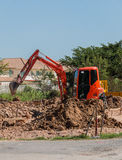 Mini backhoe Royalty Free Stock Images