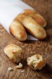 Mini baguettes francesi casalinghi Fotografia Stock