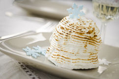 Mini baked Alaska royalty free stock image