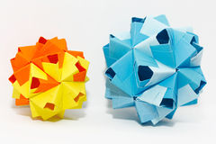 Mini ballen Kusudama Royalty-vrije Stock Fotografie