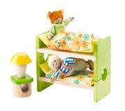 Mini bambole e camera da letto del dormitorio Immagini Stock