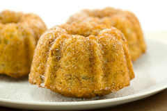 Mini Banana Bundt Cakes Royalty Free Stock Photography