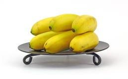 Mini Bananas on Pedestal Dish Stock Images