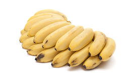 Mini bananas. Royalty Free Stock Photos