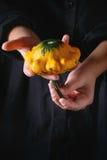 Mini bania w child& x27; s ręki Zdjęcia Stock
