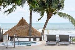 Mini basen przed plażą Obraz Stock