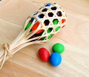 Mini basket with candy Royalty Free Stock Images