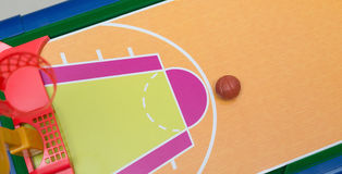 Mini basketball field. For children Royalty Free Stock Image