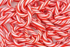 Mini bastones de caramelo Fotografía de archivo libre de regalías