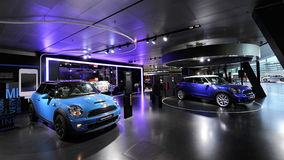 Mini Bayswater and Paceman on display in BMW Welt Stock Photo