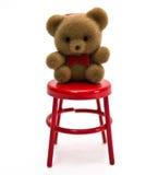 Mini Bear on Chair stock photo