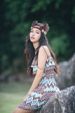 Mini beautiful portrait native american concept Royalty Free Stock Image