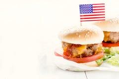 Mini beef burger Stock Photography