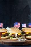 Mini beef burgers Royalty Free Stock Image
