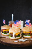 Mini beef burgers Royalty Free Stock Image
