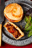 Mini beef pies Stock Images