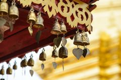 Mini bell of the temple. Phra That Doi Suthep, Chaing Mai province, north of Thailand Stock Photos