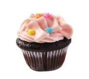 Mini-bigné di compleanno del cioccolato Immagini Stock