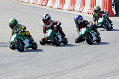 Mini Bike Championship Action Royalty Free Stock Image