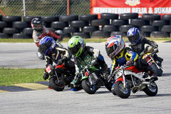 Mini Bike Championship Action Stock Images