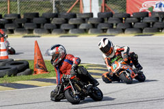 Mini Bike Championship Action Stock Image