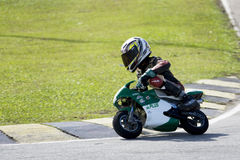 Mini Bike Championship Action Royalty Free Stock Images