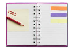 Mini blank notebook Royalty Free Stock Image