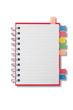 Mini blank page long shape notebook Royalty Free Stock Image
