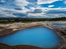 Mini blauwe lagune ijsland Stock Foto