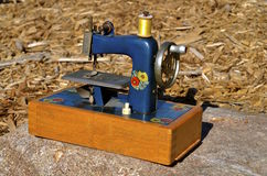 Mini blue sewing machine Stock Photography