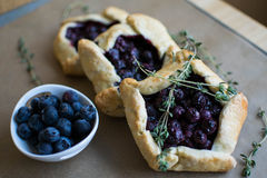 Mini blueberry pies Royalty Free Stock Photos