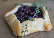 Mini blueberry pies Royalty Free Stock Images